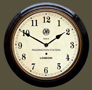 Paddington Station Clock Black Case Arabic Dial